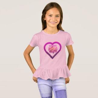 Plissado T-shirt da princesa Menina Camiseta