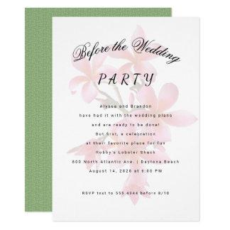 Plumeria antes do convite da festa de casamento
