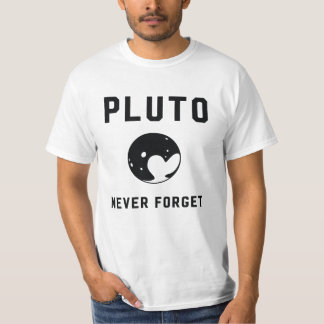 Pluto nunca esquece o espaço da astronomia do camiseta