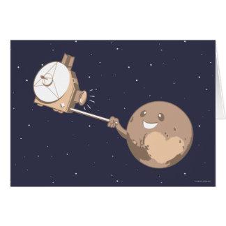 Pluto Selfie Cartão Comemorativo