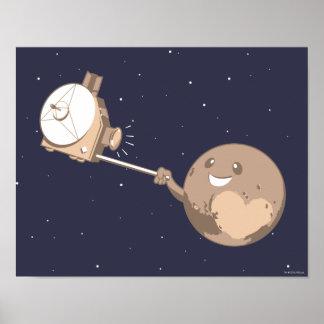 Pluto Selfie Pôster