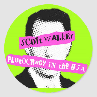 Plutocracia do caminhante de Scott nos EUA Adesivos
