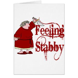PMS engraçado Stabby Cartão