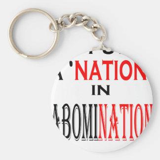 pnha a nação da abominação que nomeia o absurdo chaveiro