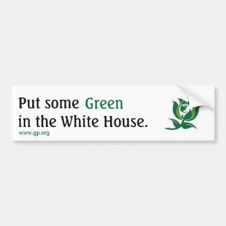 Pnha algum verde na casa branca v2 adesivo para carro