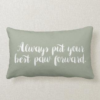 Pnha sempre seu melhor travesseiro da pata para a almofada lombar
