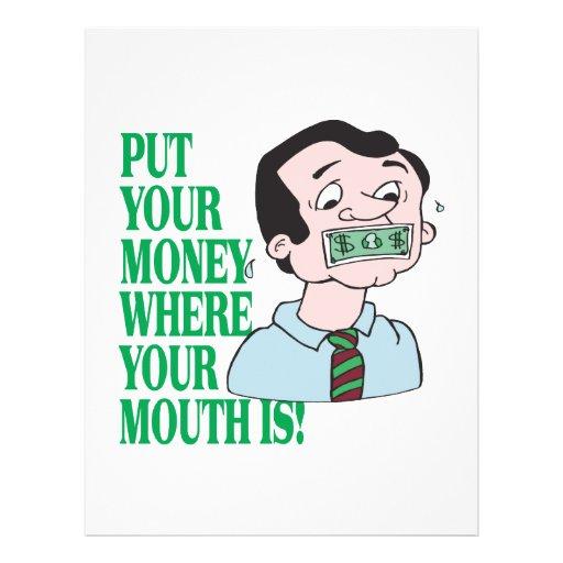 Pnha seu dinheiro modelo de panfletos