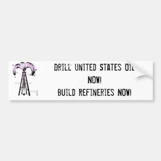 poço de petróleo, óleo dos Estados Unidos da broca Adesivo Para Carro