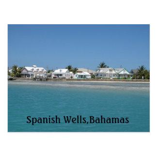 Poços espanhóis, Bahamas Cartão Postal