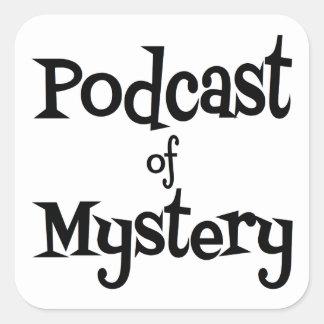 Podcast do mistério - etiquetas adesivo quadrado