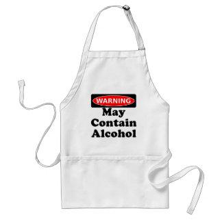 Pode conter o álcool avental