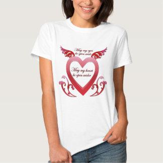 Pode meu coração ser camisa aberta t-shirt