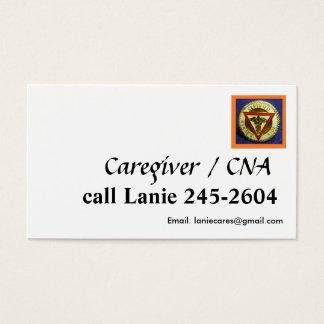 PODE/modelo de cartão de negócios do cuidador