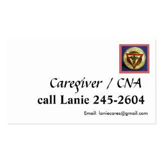 PODE modelo de cartão de negócios do cuidador Cartões De Visita