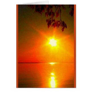 Pode o brilho claro do deus em cima de você cartão