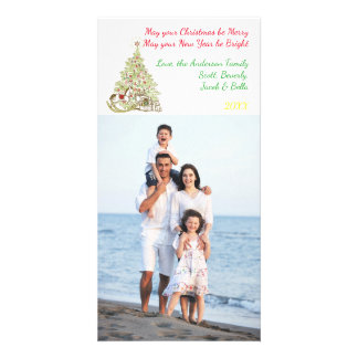 Pode seu Natal ser alegre - cartão com fotos Cartão Com Foto