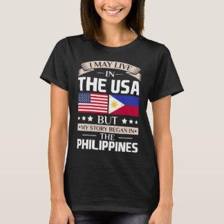 Pode viver na história dos EUA começou nas Camiseta