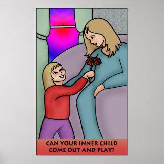Podem sua criança interna sair e o jogo pôsteres