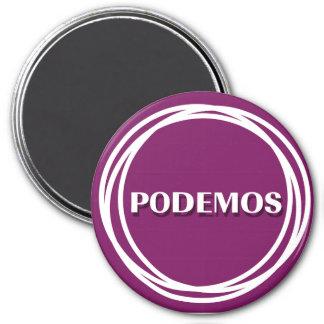 PODEMOS ÍMÃ REDONDO 7.62CM