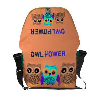 Poder da coruja bolsas mensageiro