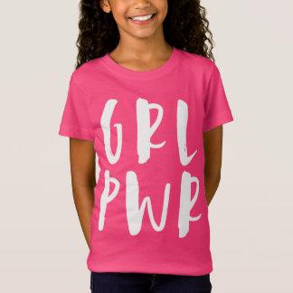 Poder da menina camiseta