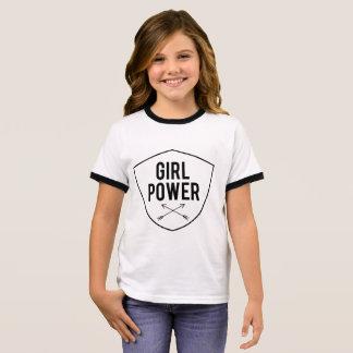Poder da menina camiseta ringer