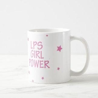 Poder da menina dos LPS com caneca das estrelas