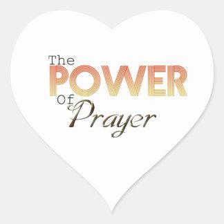 Poder da oração adesivo coração