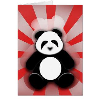 Poder da panda! cartão