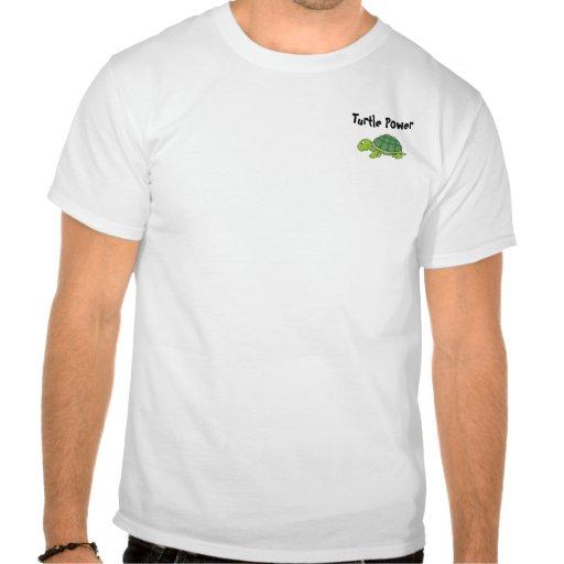 Poder da tartaruga t-shirts