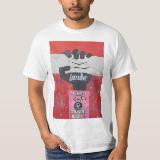 Poder de uma camiseta urbana da cor dos grafites