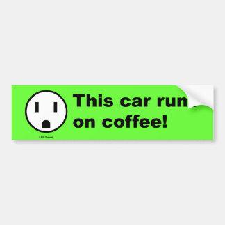 Poder do café - autocolante no vidro traseiro adesivo para carro