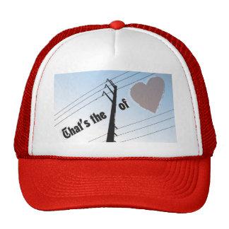 PODER do chapéu do camionista do AMOR SILOUETTE Boné