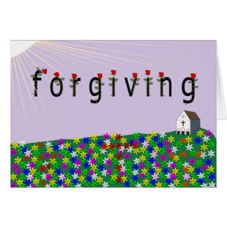 Poder do perdão cartão comemorativo