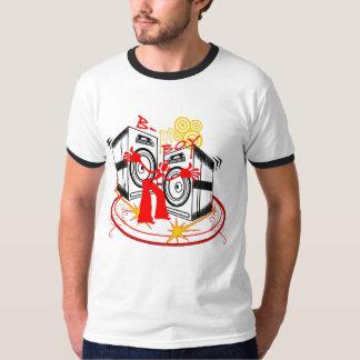 Poder dos auto-falante do design do B-Menino Camisetas