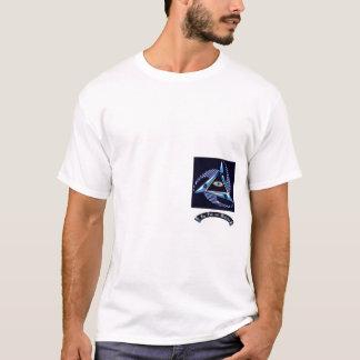 Poder e realização do logotipo camiseta