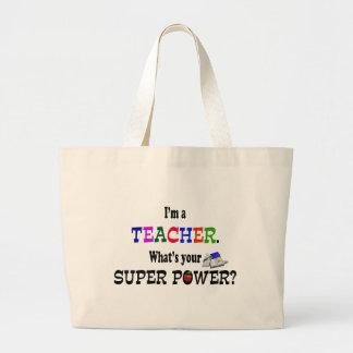 Poder super do professor bolsa tote grande