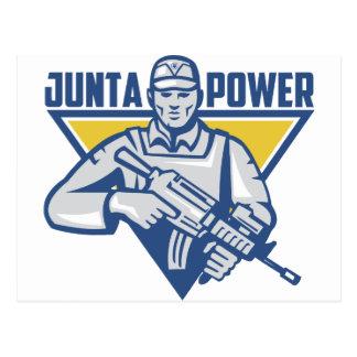 Poder ucraniano da junta do exército cartão postal