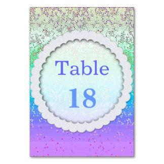 Poeira de estrela do brilho do cartão da mesa