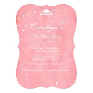 Poeira II da princesa Aniversário Convite Convite 12.7 X 17.78cm