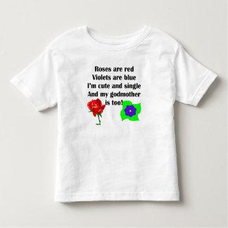 Poema bonito e único da madrinha t-shirts