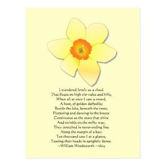 Poema de Wordsworth do ~ do Daffodil Cartão Postal