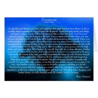 Poema devocional inspirado dos Desiderata Cartão Comemorativo