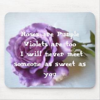 Poema do rosa do roxo mouse pad