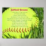 Poema do softball poster