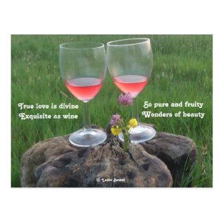 Poema do vinho do cartão pelo Basset de Ladee