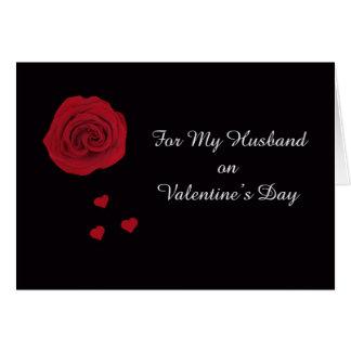 Poema dos namorados do marido cartão comemorativo