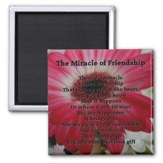 Poema inspirado da amizade ímã quadrado