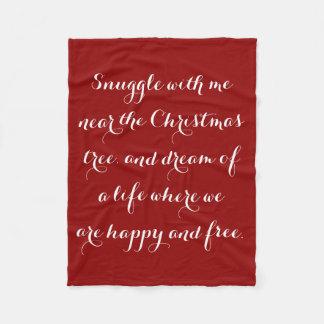 Poema sentimental do Natal Cobertor De Velo