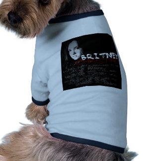 Poemas líricos do cristão de Britney Camiseta Para Cães